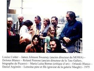 Louise Calder, James Johnson Sweeney, Lola Blanco, Roland Pensrose, Maria Luisa Borras, Orlando Blanco, Daniel Argimón, Lemoine - 1975
