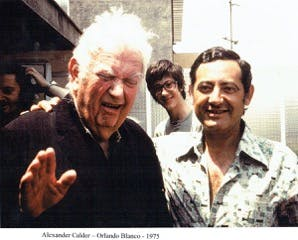 Alexander Calder et Orlando Blanco
