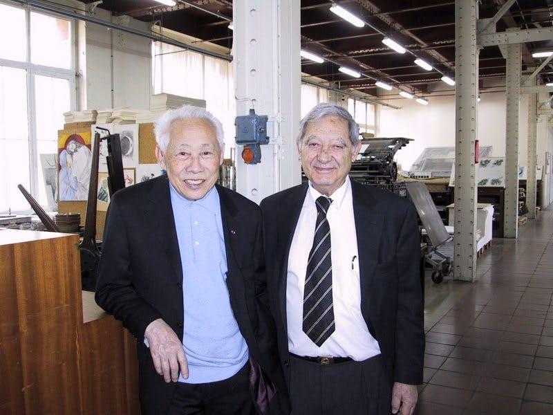Zao  Wou-Ki avec Orlando Blanco