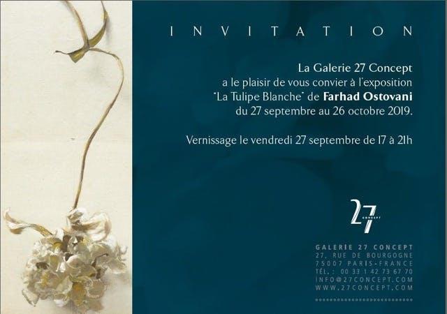 Farhad Ostavani a la galerie 27 concept